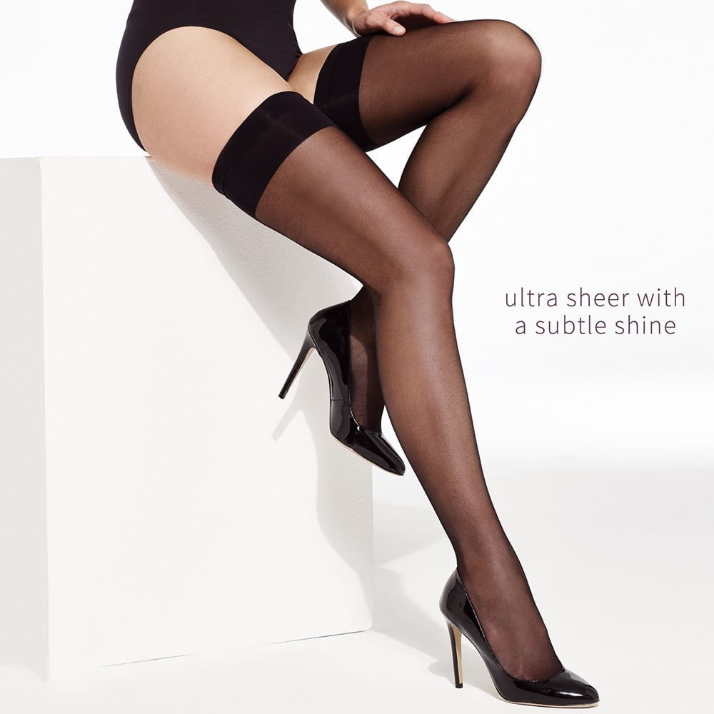 Charnos Elegance ultra sheer plain top hold-ups