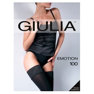 Giulia Emotion 100 lace top 3D microfibre opaque hold-ups