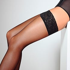 Emotion 20 lace top hold-ups