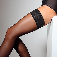 Emotion 40 lace top hold-ups