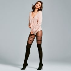 Fiore Femme opaque microfibre faux overknee tights