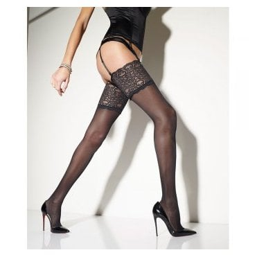 Girardi Femme semi-opaque lace top stockings