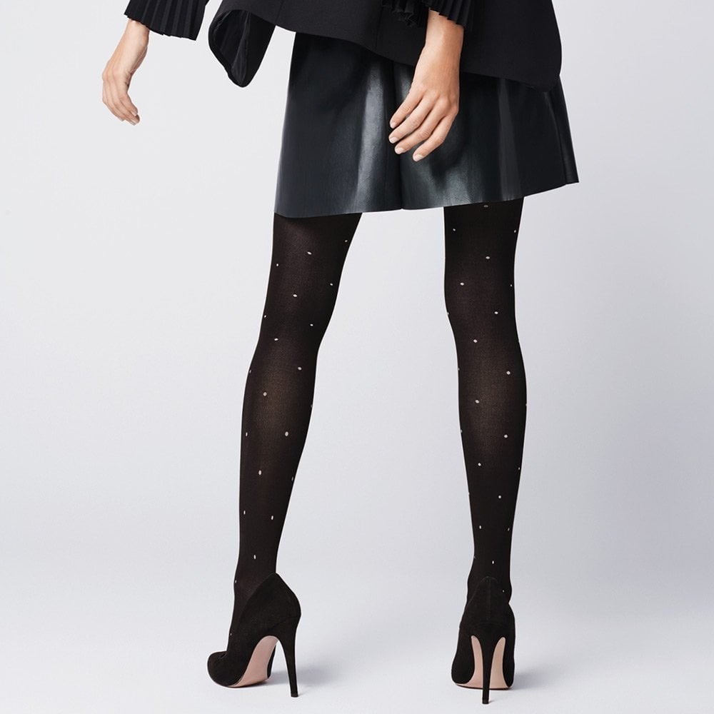 491a76255a044 Fiore Baci dotted opaque tights | Tights And More - the UK Fiore ...