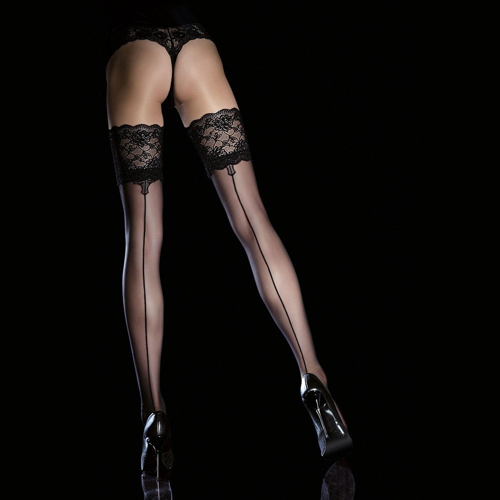 7b23b53aa Fiore Leyla seamed lace top hold-ups