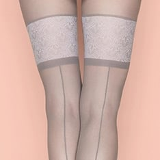 First Date seamed faux hold-up tights
