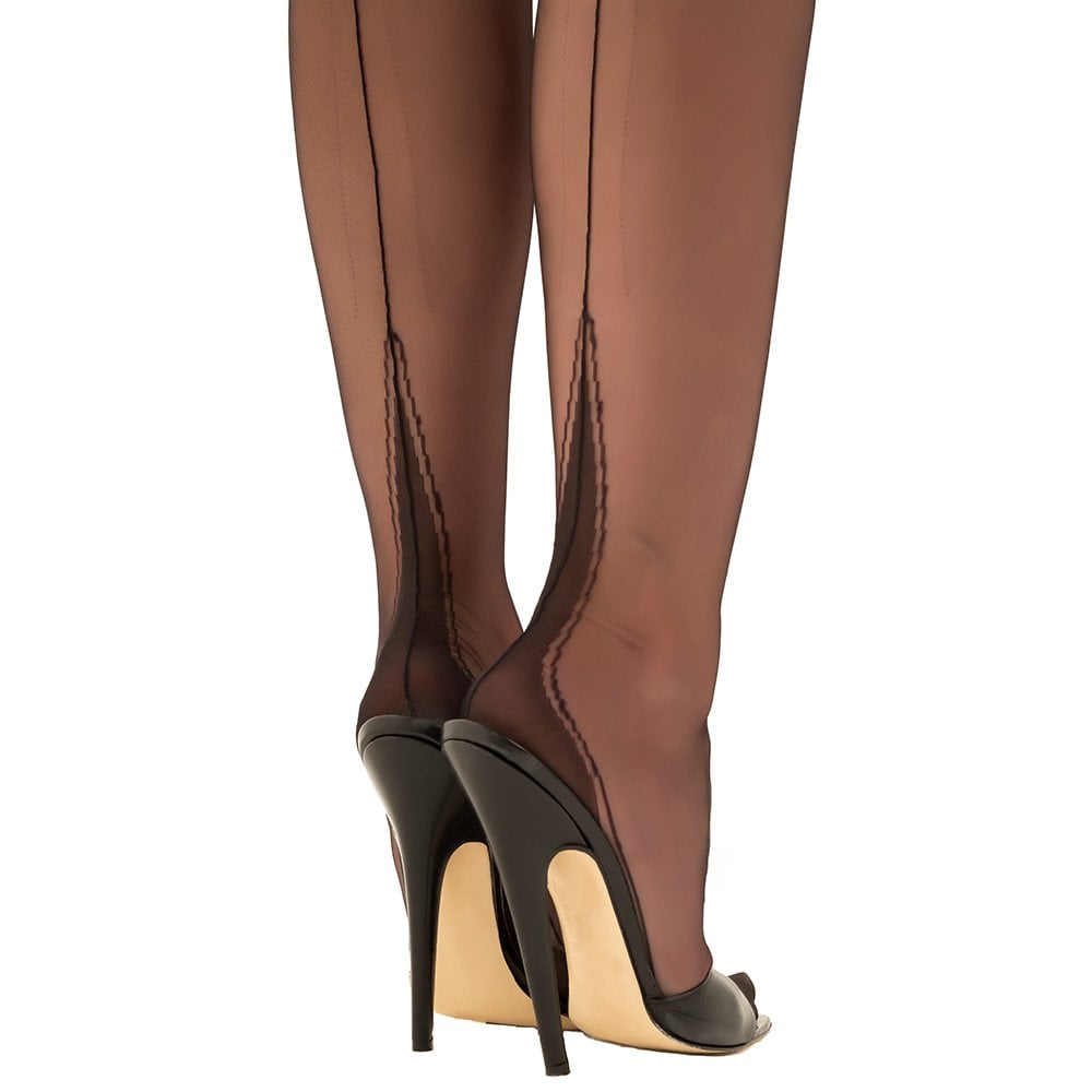 a273a66a5 Black Gio HARMONY POINT Fully Fashioned Stockings NEW!!