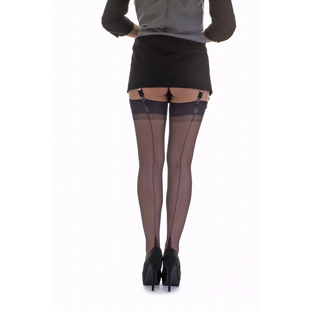 1bf0b049a3b point heel fully fashioned stockings - XXXL - size 12.5
