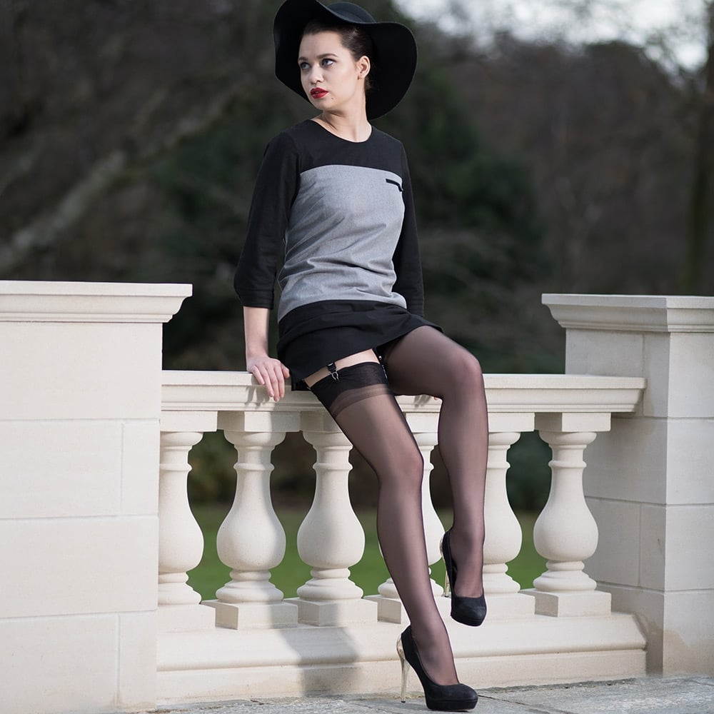 b0e328c18 Gio seconds - XXL Susan heel fully fashioned stockings at Tights and ...