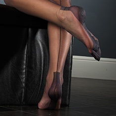 Havana heel FF stockings - CONTRAST SEAM - SECONDS