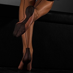 Havana heel fully fashioned stockings - CONTRAST SEAM - PERFECTS