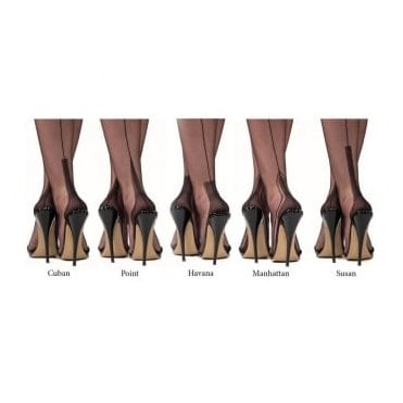 Gio Havana heel fully fashioned stockings - XXL - size 12.5