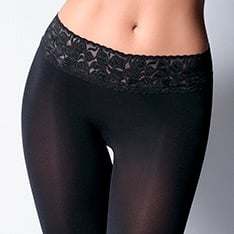 Impresso 100 Luxury Line lace waistband 3D opaque tights