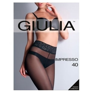 Giulia Impresso 40 Luxury Line lace waistband tights