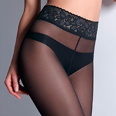 Impresso 40 Luxury Line lace waistband tights