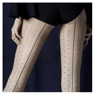 Fiore Intrigue seamed spot tights