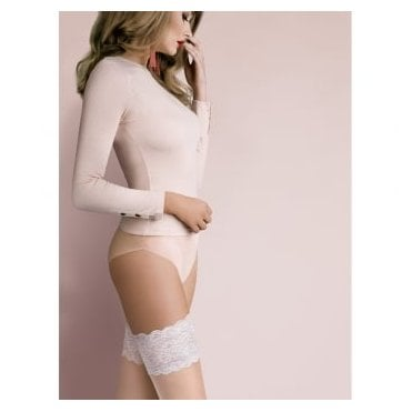Gabriella Isabelle contrast lace top hold-ups