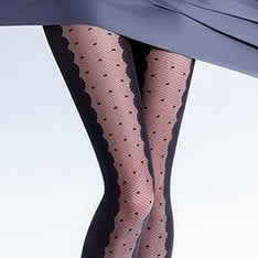 Ivette model 5 spot opaque fashion tights