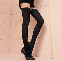 Jennifer 100 denier merino wool hold-ups