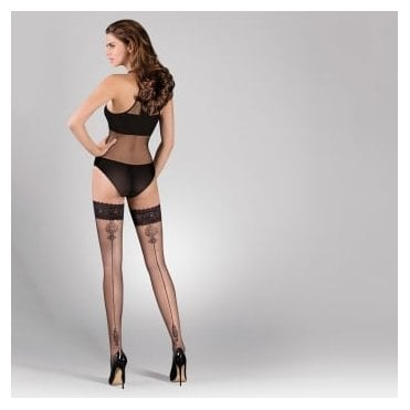 Gabriella Lana ornate backseam hold-ups