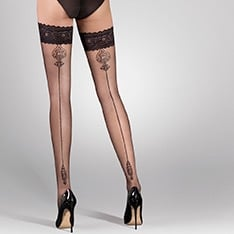 Lana ornate backseam hold-ups