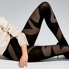 Liberté patterned 3D microfibre opaque tights