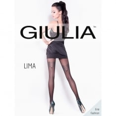 Giulia Lima model 4 corset lace effect tights