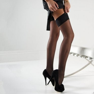 Nylonica Linea Classica sheer 15 lace top hold-ups