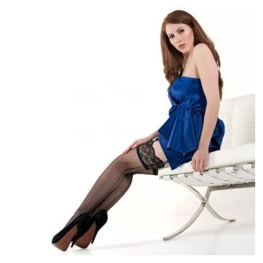 Nylonica Linea Lusso Enigma Couture seamed lace top stockings