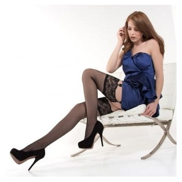 Nylonica Linea Lusso Enigma lace top stockings