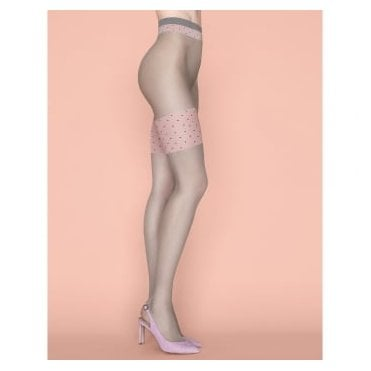 Fiore Lolita contrast top faux hold-up tights