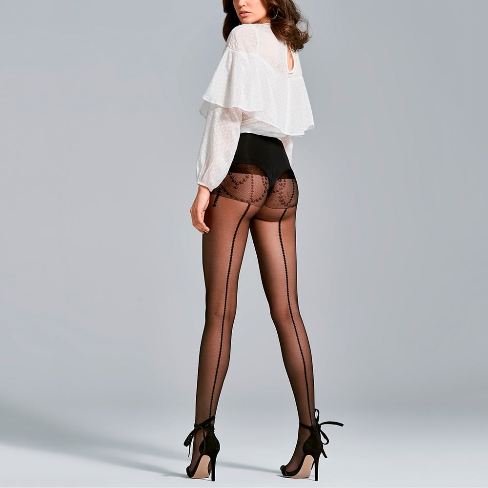 Fiore Love sheer seamed tights