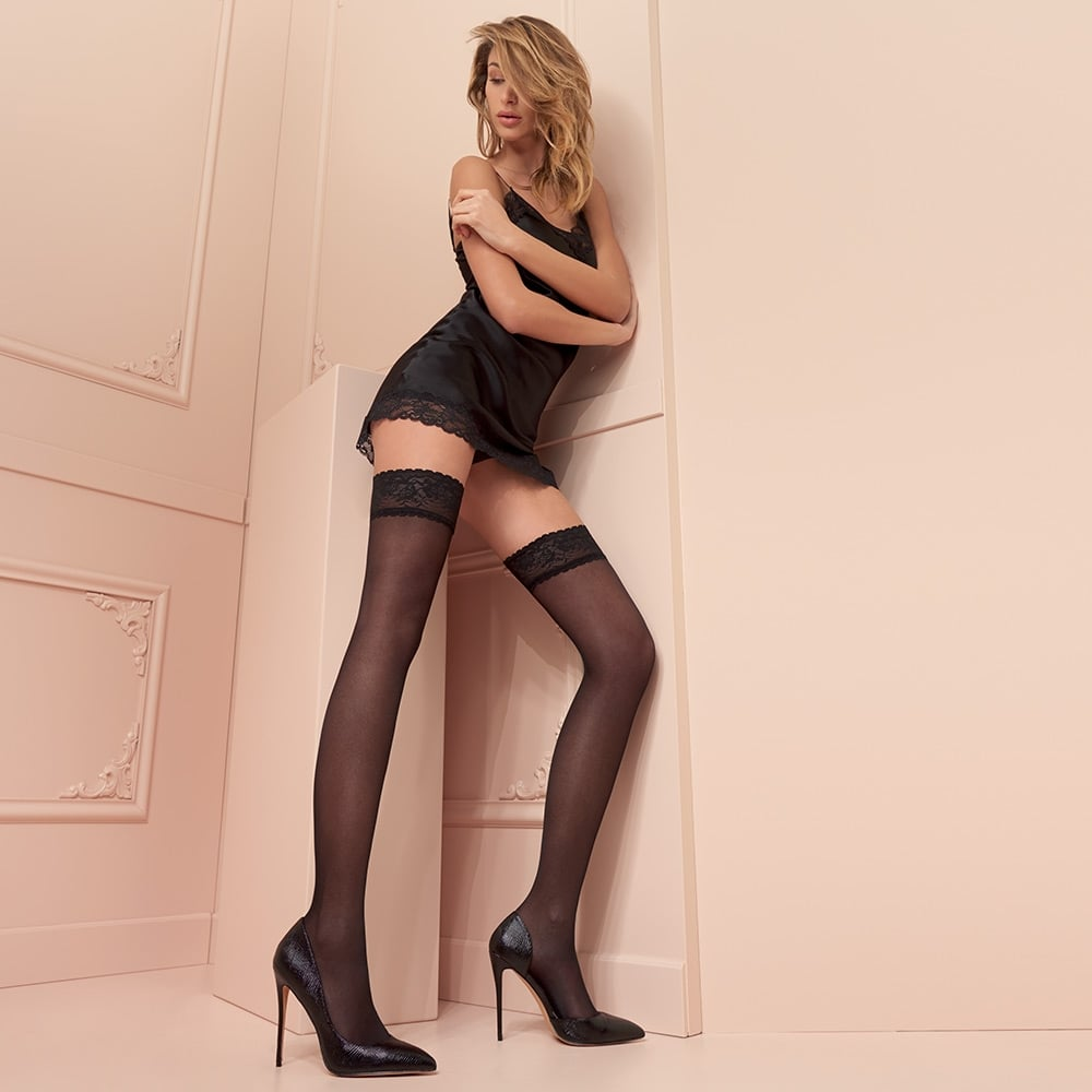 Trasparenze Maddalena 40 denier double-covered opaque hold-ups