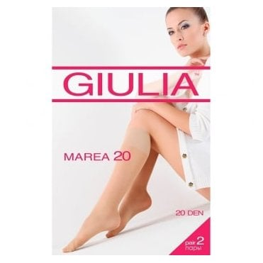 Giulia Marea 20 comfort top knee highs - 2 pair pack