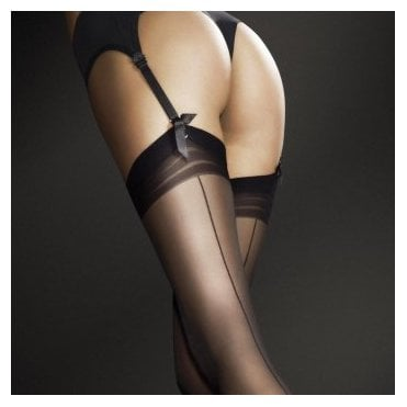 Fiore Marlena seamed stockings with concentric top band