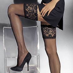 Marlene lace top hold-ups