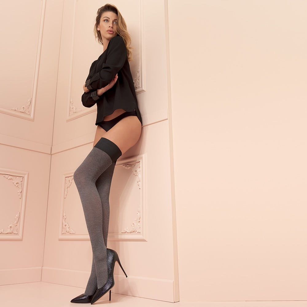 Trasparenze Melani 80 denier cotton opaque hold-ups
