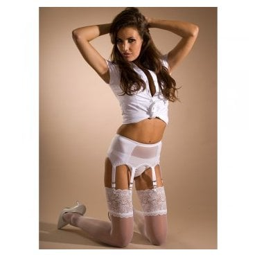 Stockings HQ mesh front 6-strap suspender belt