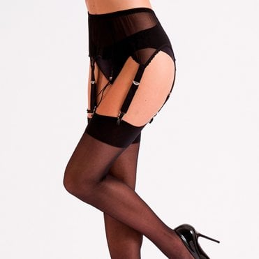 Silky Mesh six strap suspender belt