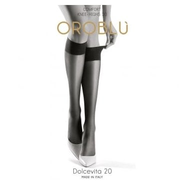 Oroblu Mi Bas Dolcevita 20 comfort top sheer knee highs