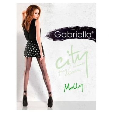 Gabriella Molly heart seamed tights