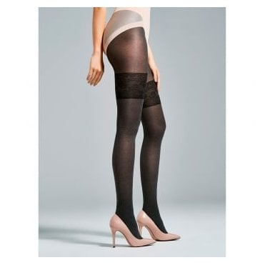 Fiore Morning opqaque marl faux hold-up tights