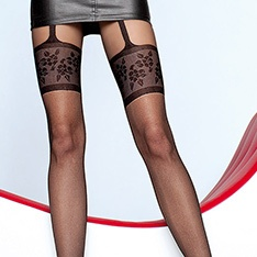 Muriel mock suspender tights - END OF LINE - SAVE 34%
