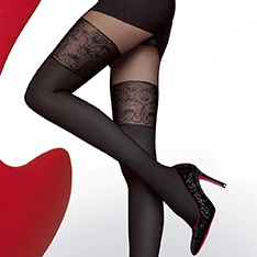 Noira 60 denier microfibre opaque faux hold-up tights