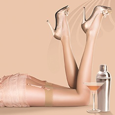 Nylons 10 denier gloss stockings