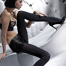 Olga 100 denier opaque microfibre tights