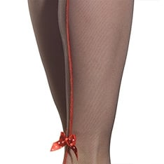 Papillion backseam bow microtulle hold-ups - LIMITED EDITION - SPECIAL OFFER
