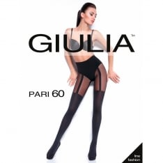 Giulia Pari model 18 opaque faux suspender tights