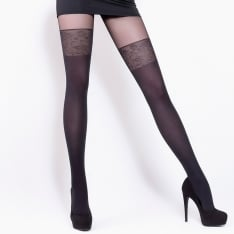Giulia Pari model 19 faux hold-up tights