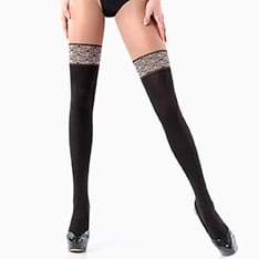 Pari Vintage model 2 opaque faux hold-up tights