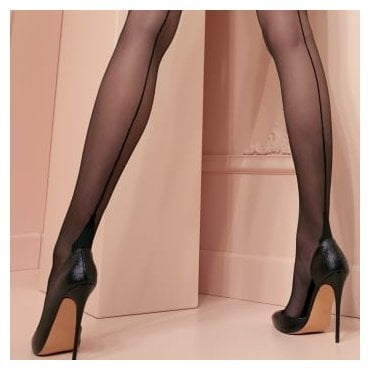 Trasparenze Pennac seamed lace-top hold-ups